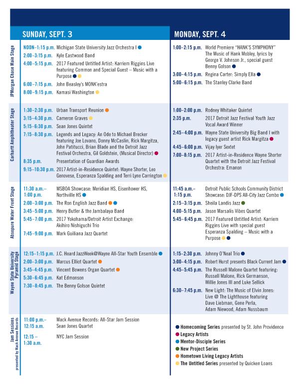 - Detroit Jazz Festival - 2017 - Schedule Page 02-